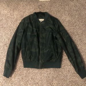 Camo bomber jacket from Garage